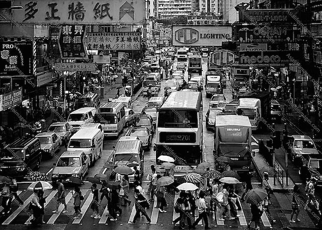 traffic everywhere in Hong Kong