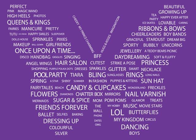 Girls Butterfly Wordplay Card