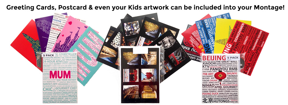 Postcards can be included in your Montage