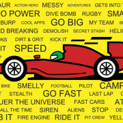 Boys Racing Car Card