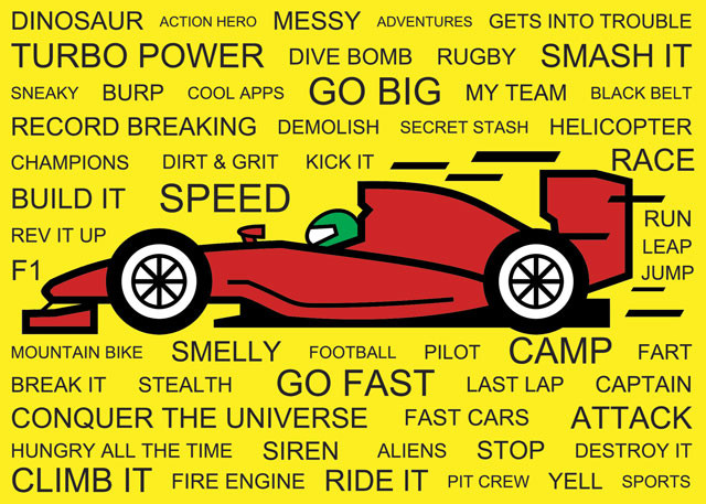 Race Car Card for Boys