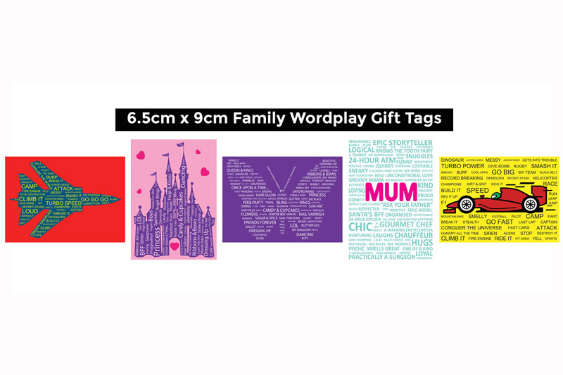 Family Theme Gift Tags