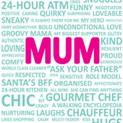 Mum Wordplay Greeting Card