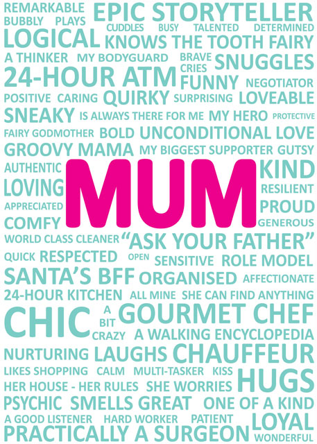 Portrait Mum Card